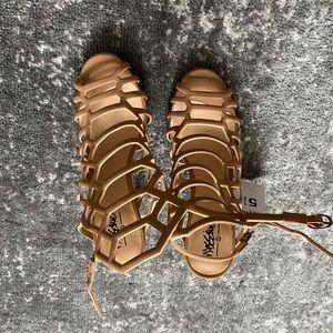 Massimo Size 5.5 Nude High Heel Sandals